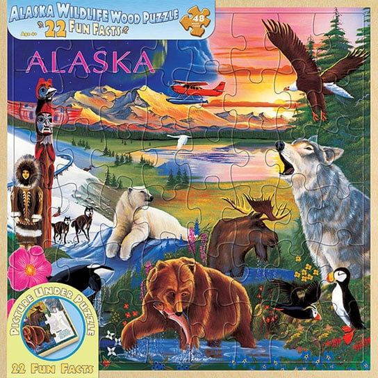 Puzzle - Alaska willife Puzzle with Wood Tray - 203074 | Leanin' Tree
