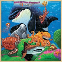 Puzzle - Undersea Friends Wood Tray Puzzle - 207154 | Leanin' Tree