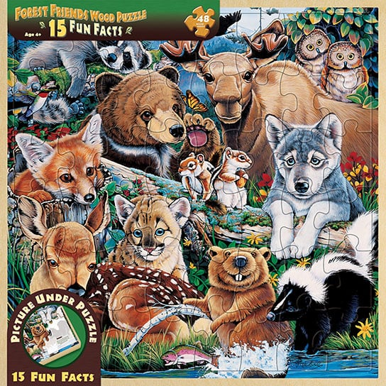 Puzzle - Forest Friends Wood Tray Puzzle - 207164 | Leanin' Tree