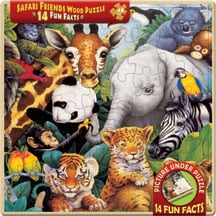 Puzzle - Safari Friends Wood Tray Puzzle - 209194 | Leanin' Tree