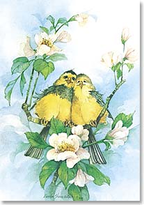 Anniversary Card - The Magic of Love Birds | Carolyn Shores Wright | 21053 | Leanin' Tree