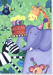 Birthday Card - It's your day to get a little wild - but not for all year! | Viv Eisner | 21118 | Leanin' Tree