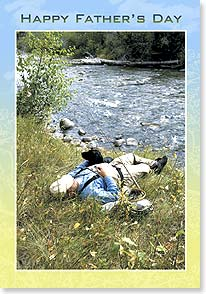 Father's Day Card - Hope you're relaxing, just doing what you wanna... - 21143 | Leanin' Tree