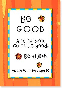 Blank Card - If You Can't Be Good, Be Sylish - 21565 | Leanin' Tree