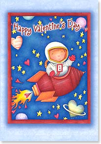 Valentine's Day Card - To a kid who's out of this world! - 21648 | Leanin' Tree