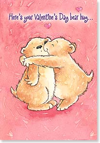 Valentine's Day Card - A hug, with a promise of 364 more this year! - 21652 | Leanin' Tree