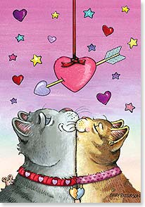 Valentine's Day Card - You make my heart purrr... - 21653 | Leanin' Tree