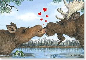 Valentine's Day Card - Let's Moosebehave! - 21658 | Leanin' Tree