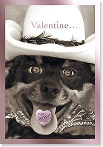 Valentine's Day Card - Bow WOW! I'm sweet on you! - 21659 | Leanin' Tree