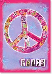 Valentine's Day Card - PEACE & LOVE to you! - 21663 | Leanin' Tree