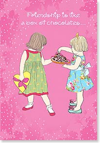 Valentine's Day Card - Friendship is like a box of chocolates - full of surprises! - 21664 | Leanin' Tree