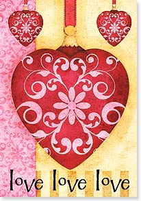 Valentine's Day Card - you you you  Happy Valentine's Day - 21668 | Leanin' Tree