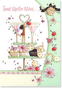 Valentine's Day Card - ...with a cherry on top!  Here's to a wonderful day! | Maria Woods | 21670 | Leanin' Tree