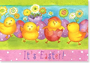 Easter Card - Hope your day is colored with friendship and fun! | Sue Zipkin | 21687 | Leanin' Tree