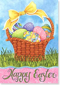 Easter Card - Wishing you Easter joys by the dozen! | Joy Hall | 21689 | Leanin' Tree