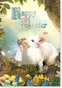 Easter Card - May springtime bring you a touch of magic. | Charlotte Bird | 21690 | Leanin' Tree