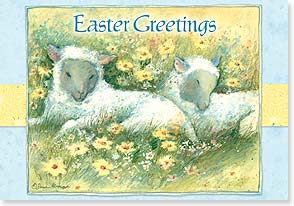 Easter Card - Easter Greetings to someone woolly special! - 21691 | Leanin' Tree