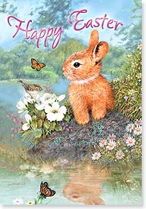 Easter Card - Of all spring's delights, you're the most delightful! | Giordano Studios | 21698 | Leanin' Tree