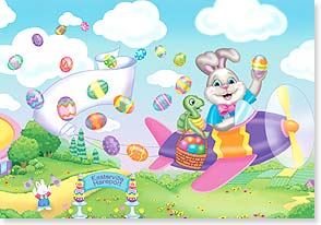Easter Card - Have a super-duper, happy Easter day!  | Janet K Skiles | 21703 | Leanin' Tree