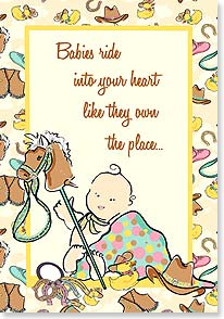 Baby Congratulations Card - ...Because They Do! Congratulations - 21821 | Leanin' Tree