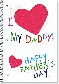 Father's Day Card - I HEART My Daddy! | Bee Sturgis | 21839 | Leanin' Tree