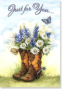 Birthday Card - A happy birthday and a wonderful year to boot! | Susan Winget | 21869 | Leanin' Tree