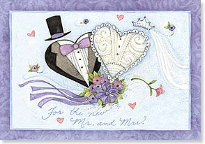 Wedding Card - A lifetime of happy heart wishes! - 21872 | Leanin' Tree