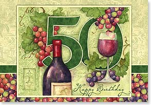 Birthday Card - Fifty cheers for fifty years! | Susan Winget | 21873 | Leanin' Tree