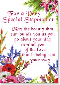 Birthday Card - For a Very Special Stepmother...love, beauty &amp; joy. | Richard Macneil | 21879 | Leanin' Tree