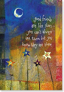 Friendship Card - Thank you for being a shining star in my life. | Robbin Rawlings | 21892 | Leanin' Tree