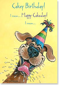 Birthday Card - Cakey Cake Day! | Gary Patterson | 21913 | Leanin' Tree