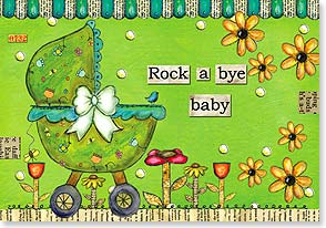 Baby Congratulations Card - Definitely the cutest thing on wheels! Congratulations | Lisa Kaus | 21915 | Leanin' Tree
