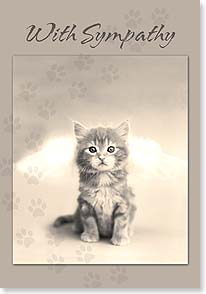 Sympathy Card for Pet - Heaven's Kitty Door. | Rachael Hale® | 21919 | Leanin' Tree