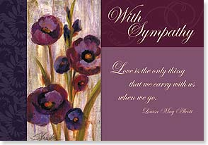 Sympathy Card - The amount of love that was left behind is immeasurable. | Silvia Vassileva | 21921 | Leanin' Tree