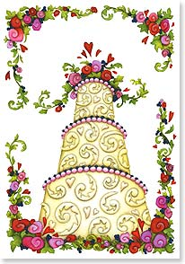 Wedding Card - May your life together be joyous and sweet! | Beth Logan | 21922 | Leanin' Tree