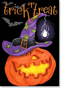 Halloween Card - Hope this Halloween gives you something to smile about! | Joy Hall | 21927 | Leanin' Tree