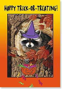 Halloween Card - Hope you make out like a bandit! | William Vanderdasson | 21929 | Leanin' Tree