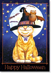 Halloween Card - Hope it's brimming with smiles! | Tammy Herriman | 21937 | Leanin' Tree