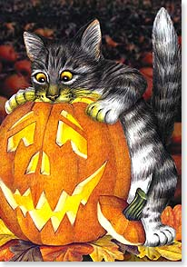 Halloween Card - Hope you're all aglow in the spirit of Halloween! | Laura Berry | 21938 | Leanin' Tree