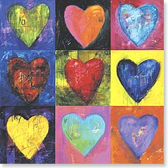 Blank Card - Colorful Hearts | Willamarie Huelskamp | 23175 | Leanin' Tree
