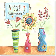 Feel Better Card - Flowers For You | Lori Siebert | 23302 | Leanin' Tree