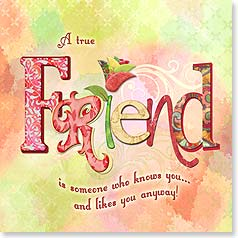 Friendship Card - A True Friend | Connie Haley | 23310 | Leanin' Tree