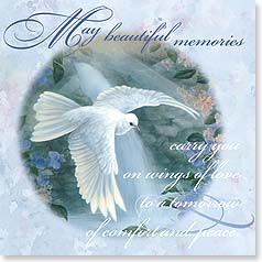 Sympathy Card - On Wings Of Love | Larry K. Martin | 23376 | Leanin' Tree