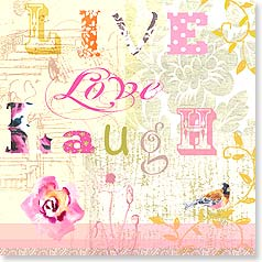 Birthday Card - Live Love Laugh Celebrate! Happy Birthday | Jane Kitching | 23390 | Leanin' Tree