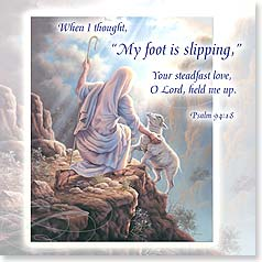 Praying For You Card - He will hold you up w/ Psalm 94:18 | Judy Gibson | 23397 | Leanin' Tree