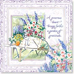 Thank You & Appreciation Card - A whole garden of thanks!  w/ 2 Cornithians 9:6 | Audrey Jeanne Roberts | 23399 | Leanin' Tree