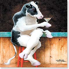 Birthday Card - Cheers to Moo! | Will Bullas | 23410 | Leanin' Tree