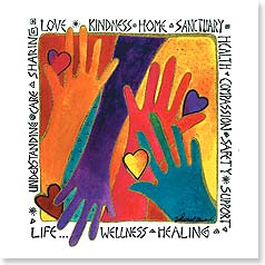 Blank Card with Quote / Saying - Hearts and Hands | Laurel Burch® | 23417 | Leanin' Tree