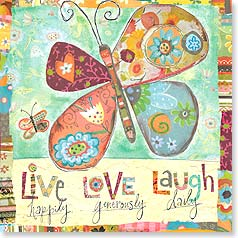 Blank Card with Quote / Saying - Live, Laugh, Love - 23418 | Leanin' Tree