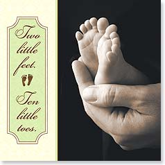 Baby Congratulations Card - Two Little Feet | Tanya Hovey | 23424 | Leanin' Tree